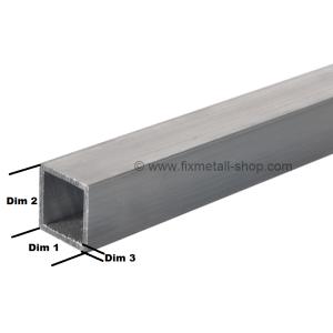 Aluminium Rohr quadrat
