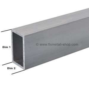 Aluminium Rohr rechteckig