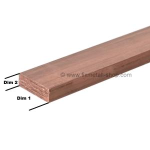 Kupfer Stab rechteckig