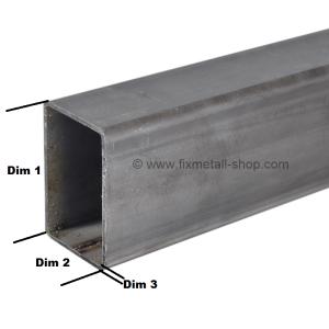 Stahl Rohr rechteckig gewalzt