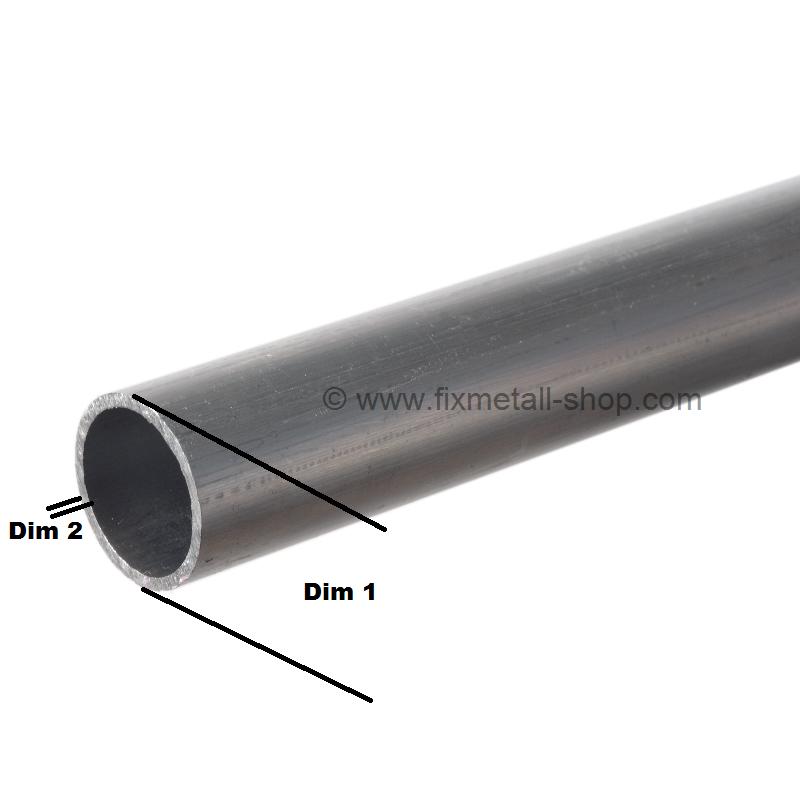 180cm auf Zuschnitt Aluminium Rundrohr AlMgSi05 /Ø 42x5mm L/änge 1800mm